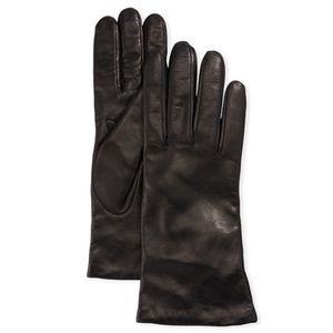 Neiman Marcus Cashmere-Lined Napa Leather Gloves
